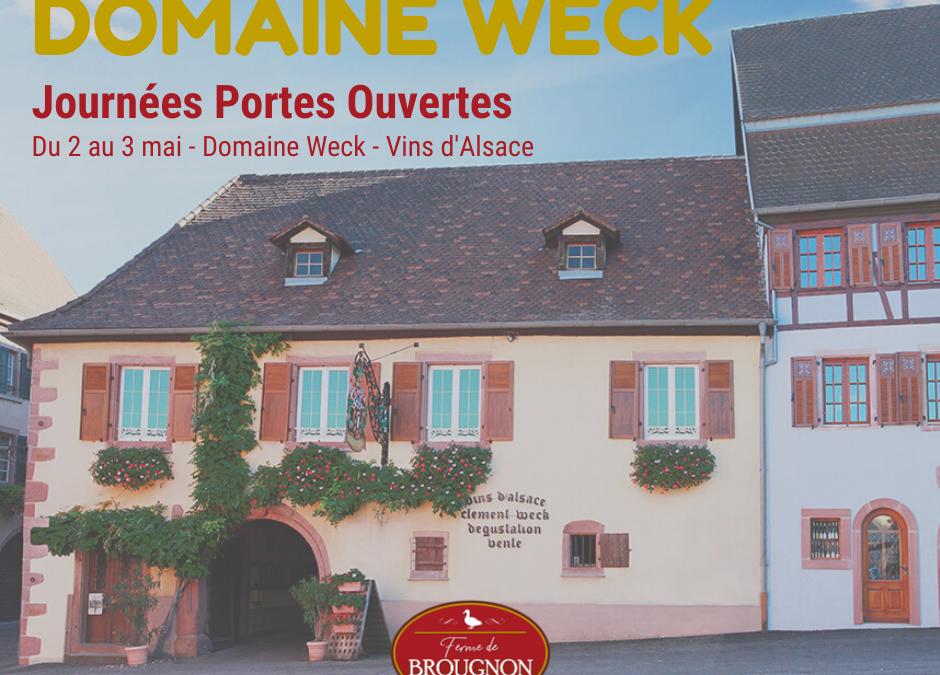 Venez nous rendre visite en Alsace du 2 au 3 mai